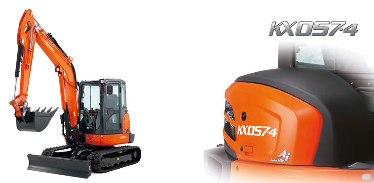 Mini excavator KX057-4 - KUBOTA