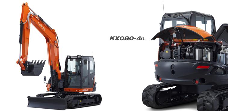 Midi excavator KX080-4α - KUBOTA